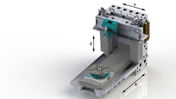 Centro de mecanizado para piezas pesadas y complejas